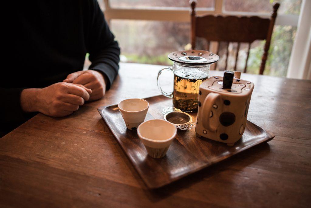 Tea Tray on Table